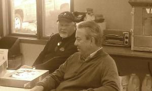 Ron Gardenhire, back, when he visited Yankton a year ago.